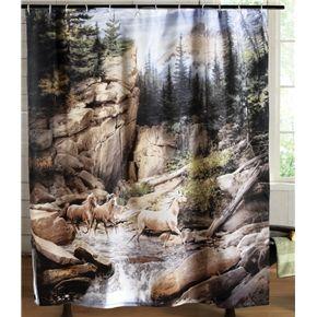 Horse Canyon Western Bathroom Shower Curtain