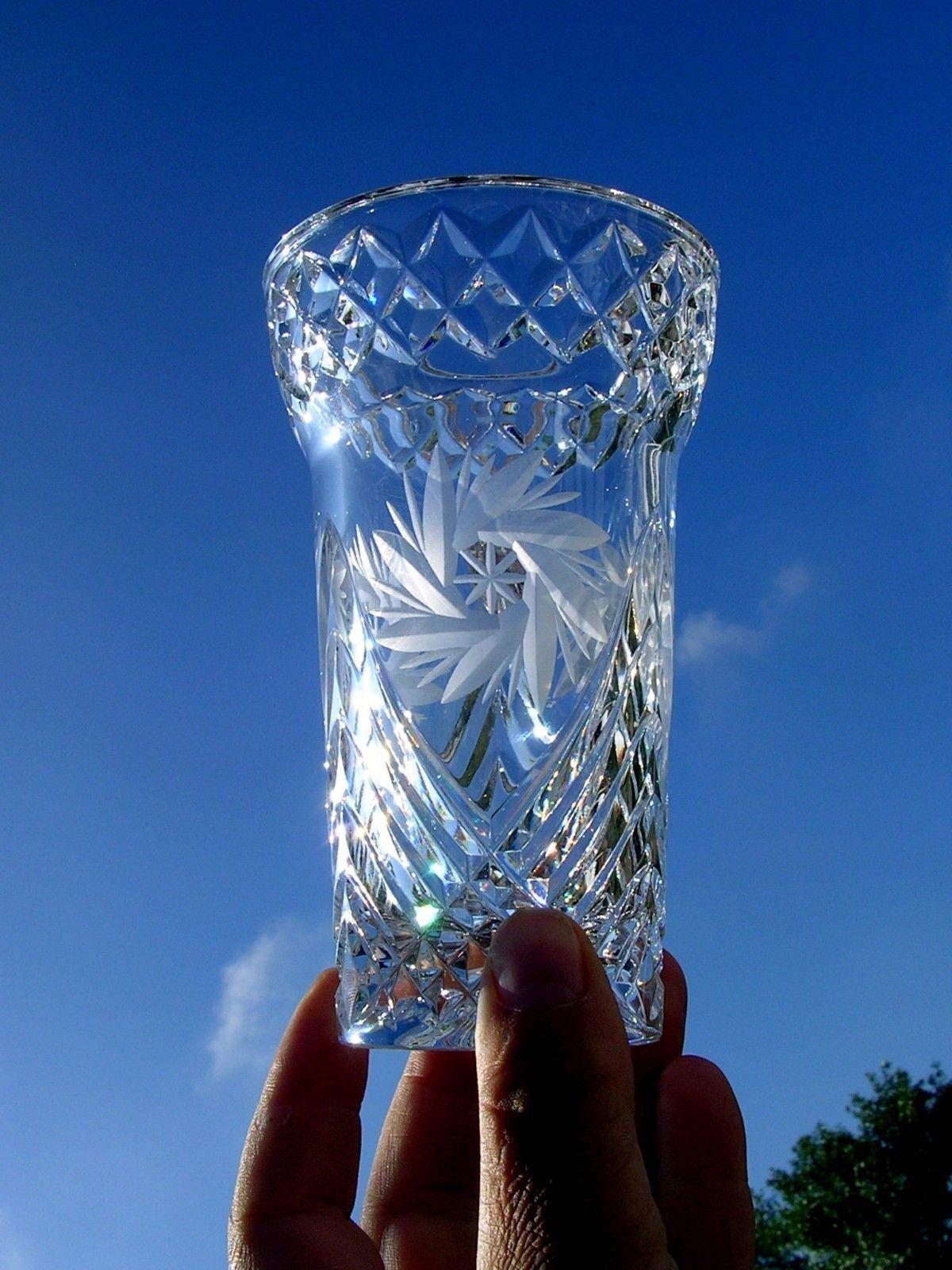 Dresden lead crystal vase pinwheel hand cut original label dresden lead crystal vase pinwheel hand cut original label reviewsmspy