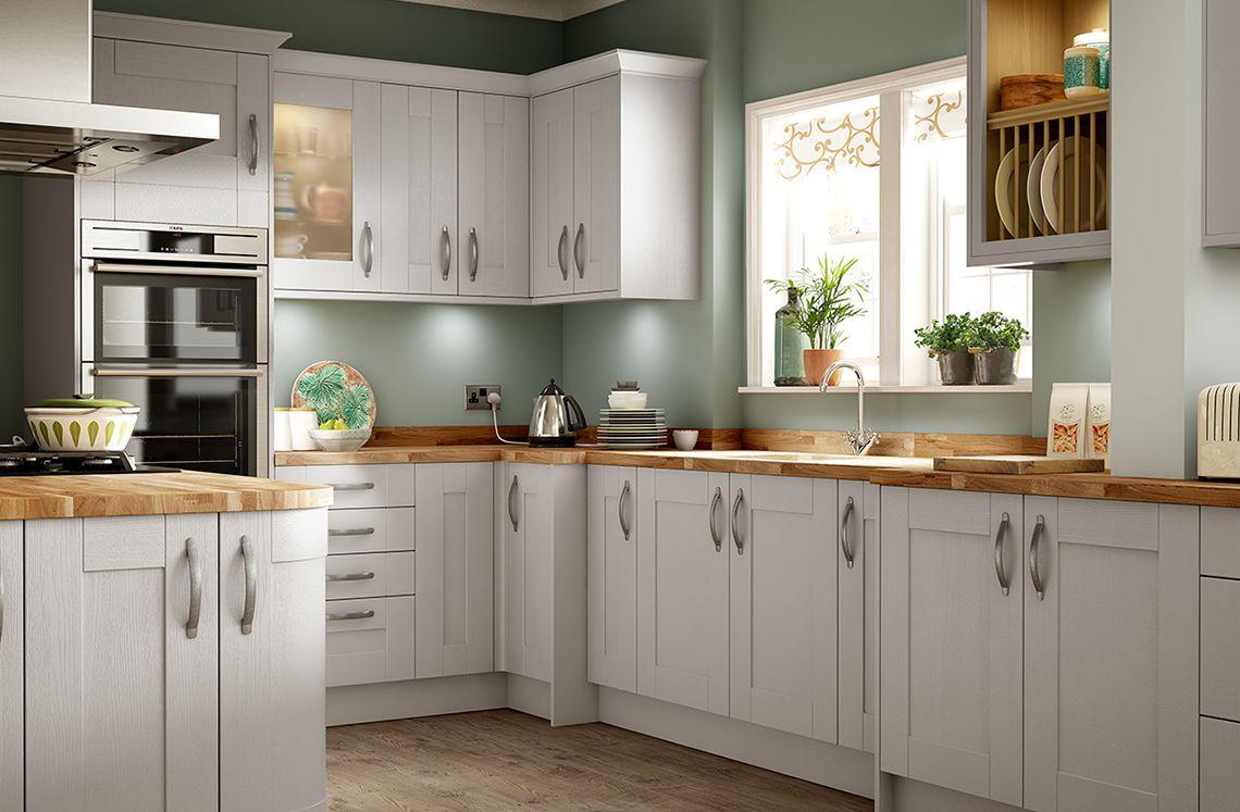 Sherwood Grey Green kitchen walls, Kitchen