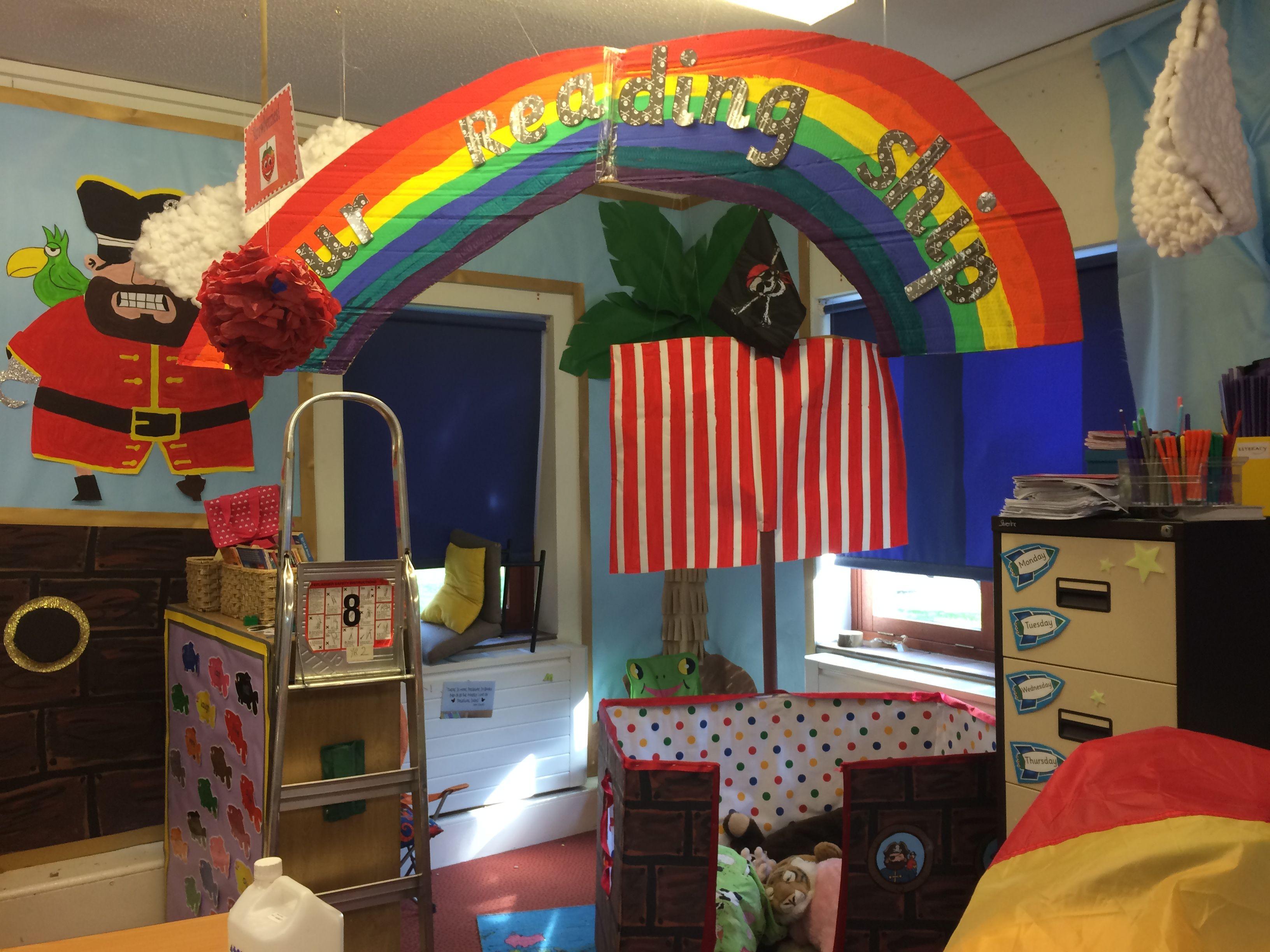 Reading Corners pirate ship reading corner/book corner | classroom displays