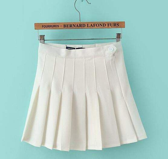 Women Tennis Skirts Pleated High Waist Mini Skirts 8 Colors