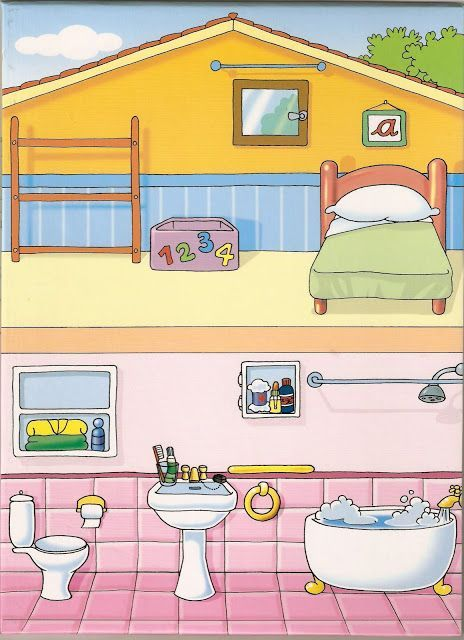 Partes De La Casa Habitacion Y Bano Maison Maternelle Jeux Educatif Pour Enfant Jeu Educatif