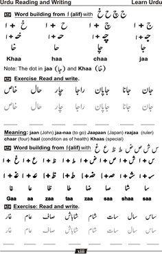 Learn Urdu Language   urdu   Urdu words, Learning arabic