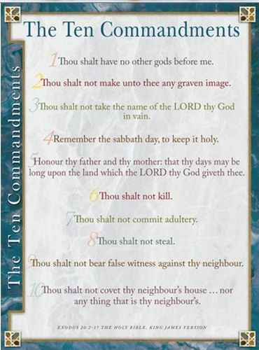 This is an image of Kjv Ten Commandments Printable intended for pdf