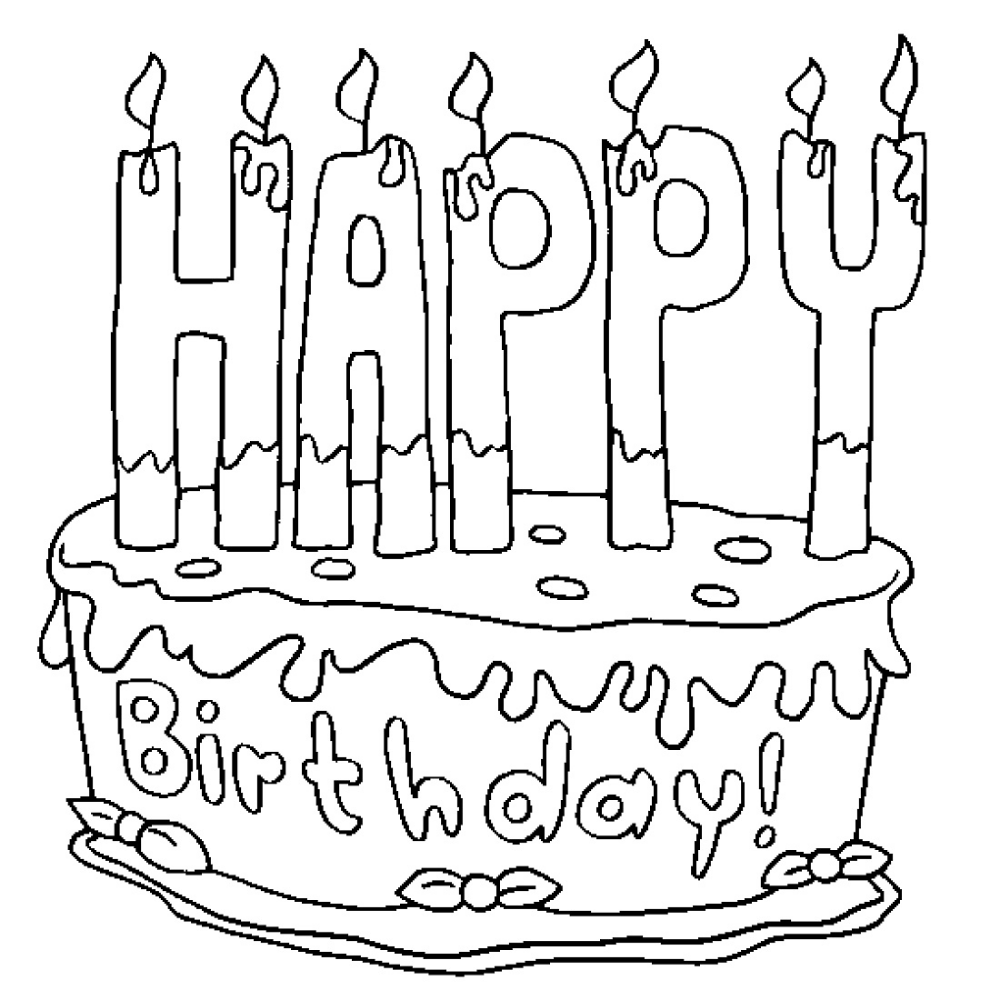 Birthday Cake Coloring Page K5 Worksheets Happy Birthday Coloring Pages Birthday Coloring Pages Coloring Book Pages [ 1000 x 1000 Pixel ]