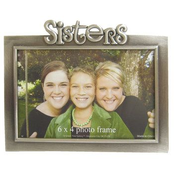 6 X 4 Sisters Metal Photo Frame Metal Photo Frames Photo Frame Shop Photo Frame