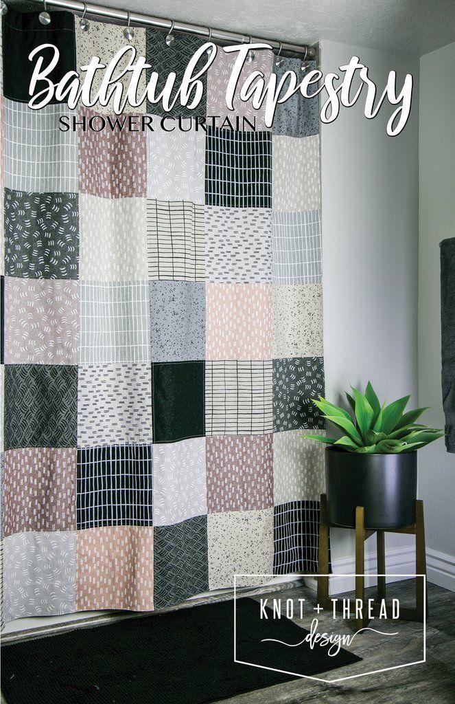 Bathtub Tapestry Shower Curtain Paper Pattern