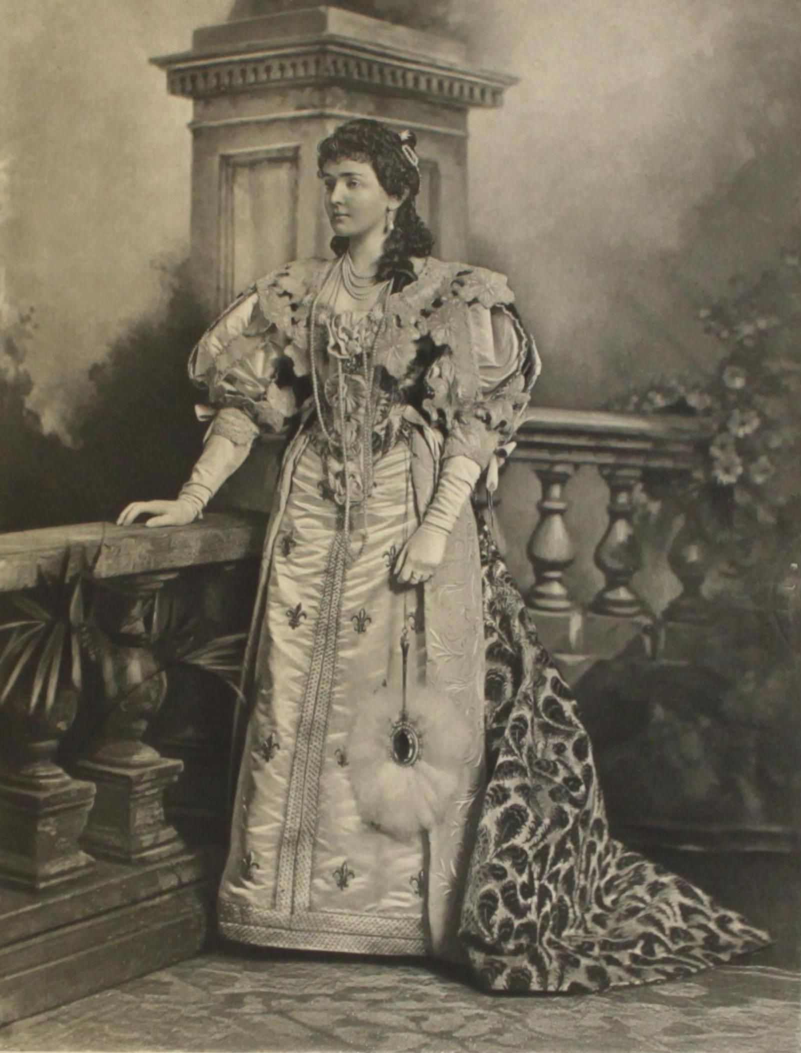 HRH the Duchess of Connaught as Anne of Austria, mother of Louis XIV; one of the 200 guests in fancy dress at the the Duchess of Devonshire's Diamond Jubilee Costume Ball, 1897.
