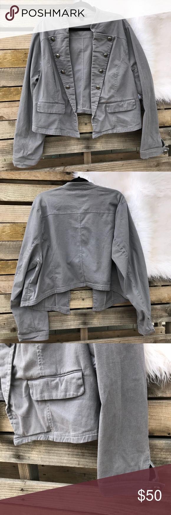 "eb399b952c7 Torrid Womens Gray Jacket Size 4 Plus Size - Torrid - Gray Jacket - Great  Condition - Size 4 Measures Approximately  Length  20 1 2"" Chest  27"" A-61  torrid ..."