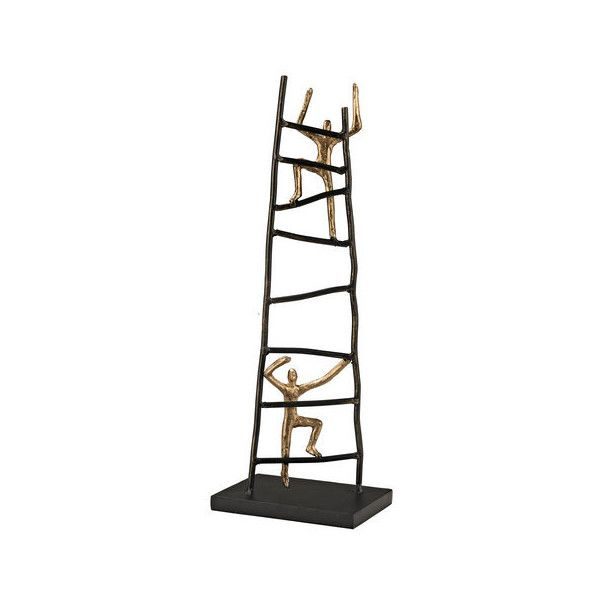 Sterling Industries 148 018 Climbers Statue Bronze Home Decor Statues  ($118) ❤ Liked