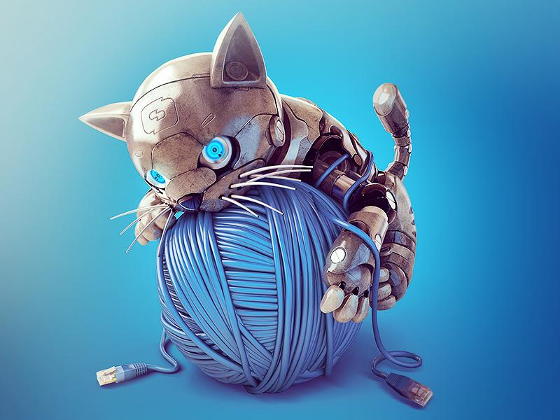 Картинки робо котят