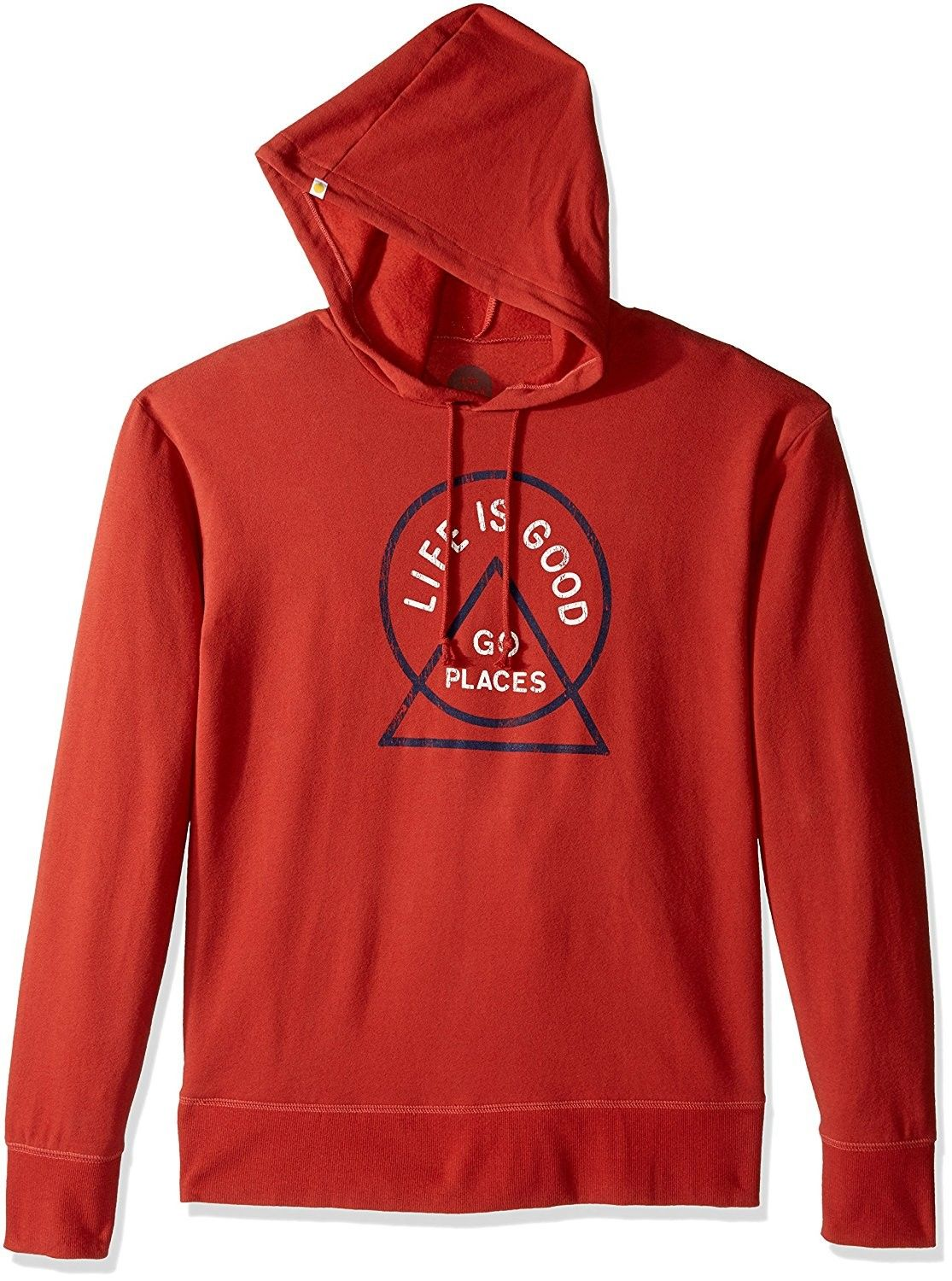 Earthy Rust Life is Good Go-to Go Places Circle Hoodie