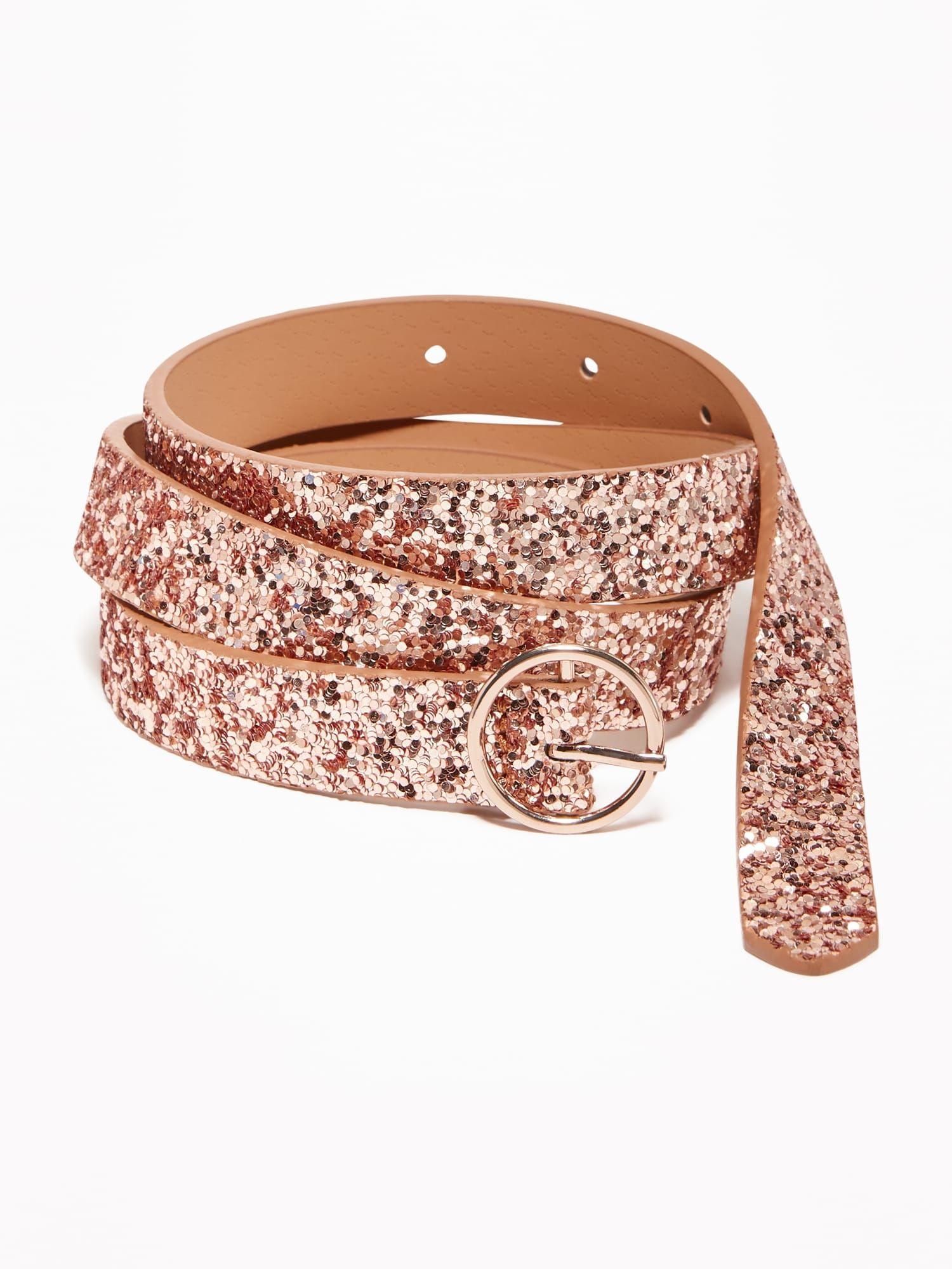ccde195bf Skinny Glitter O-Ring Belt for Women | Old Navy | Belts in 2019 ...