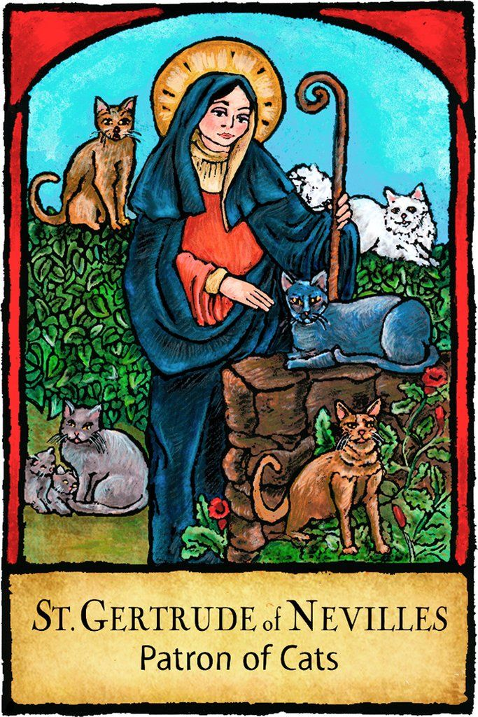 St. Gertrude of Nevilles Patron Saints 433 in 2020