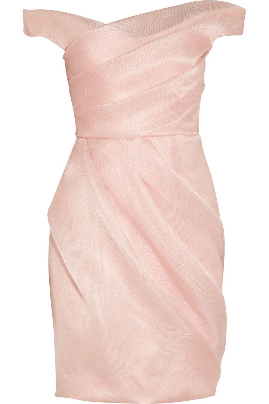 Lela Rose | Pleated silk-organza dress | in #pastel #pink color ...