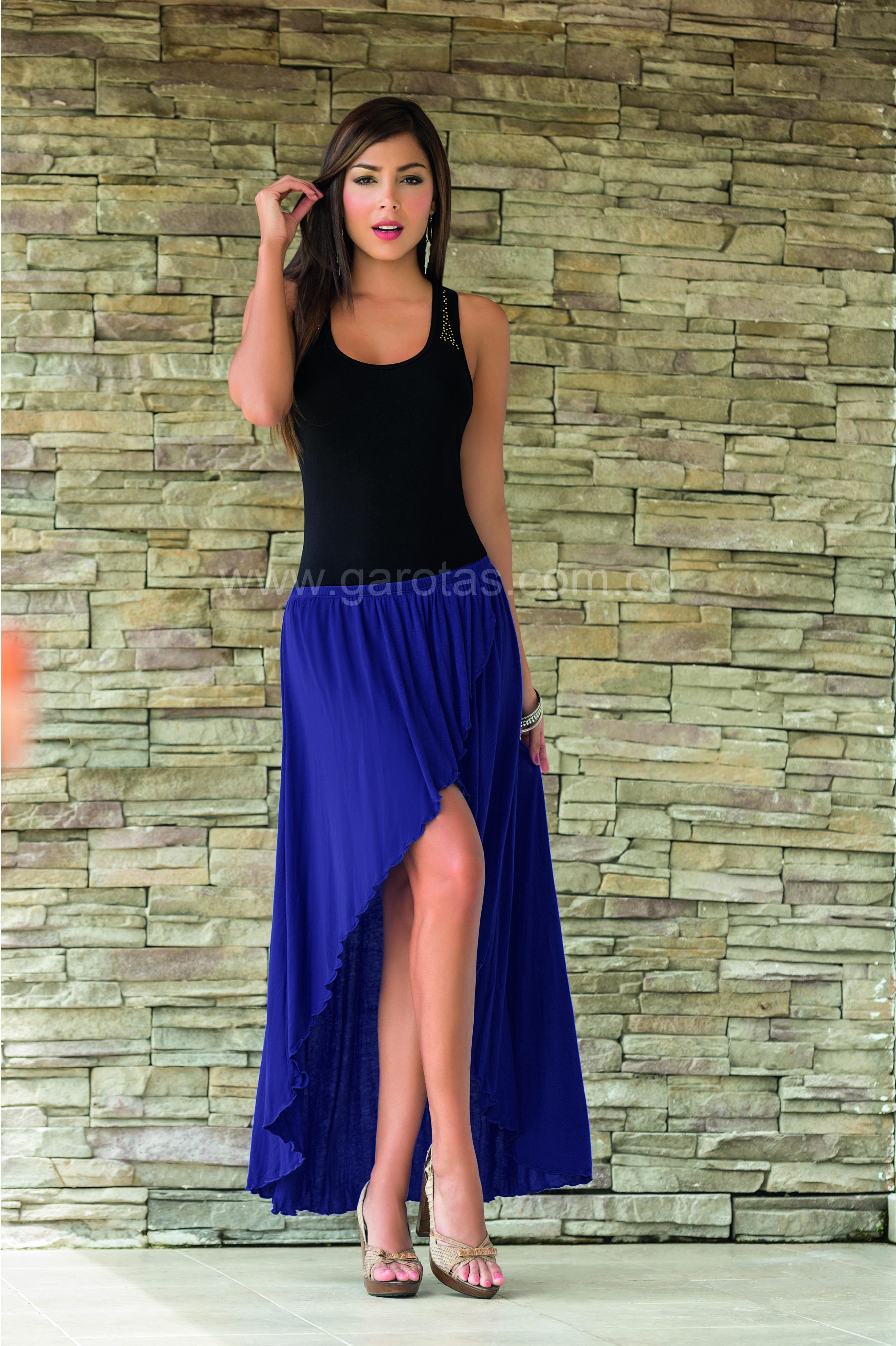 Blusa Y Falda Cola De Pato #Ropa #Vestidos #Moda #Fashion