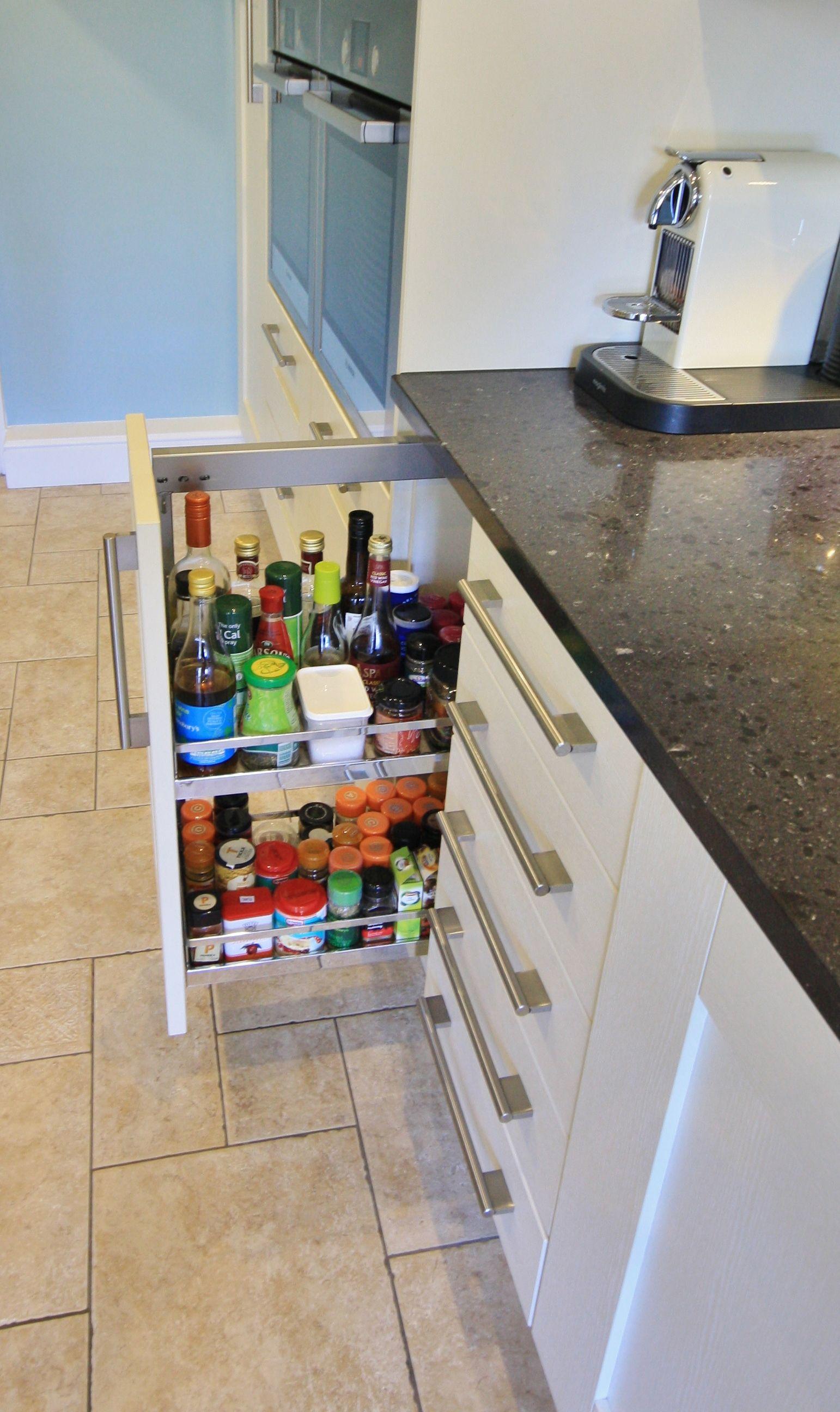 Base Unit Pull Out Larder For Spices And Sauces  Designed Captivating Designed Kitchen Appliances Design Decoration