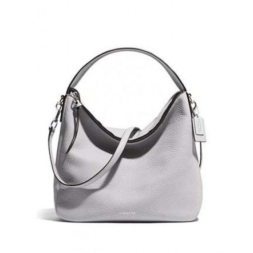 Coach Bleecker Sullivan Hobo Bag In Pebbled Leather in Grey ...
