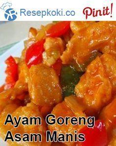 Resep Ayam Saus Asam Manis : resep, manis, Goreng, Tepung, Manis, Resep, Ayam,, Sehat,, Makanan