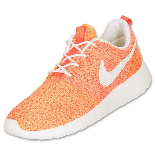 off Cheap Nike Running Shoes,Nike Roshe Run Womens Total Crimson Bright  Citrus Sail 511882 800