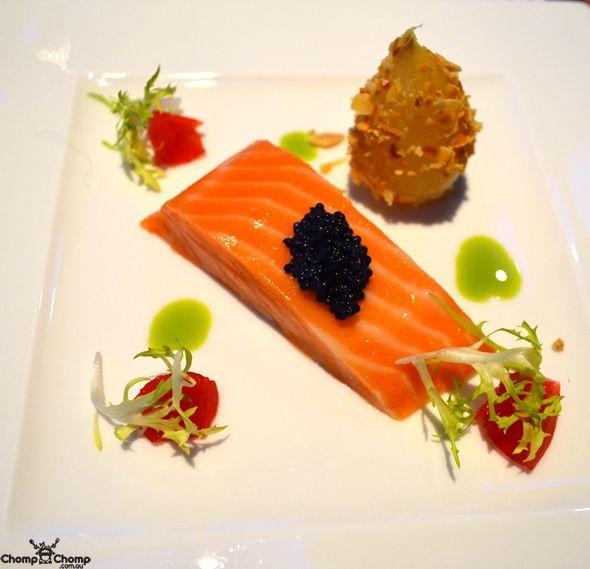 Sous Vide 48 C King Salmon, signature dish at Ocean ...