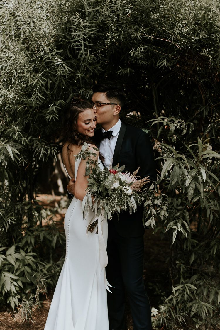 Couple Goals!  Summer Wild Greens Inspired Wedding At Evergreen Brick Works In Toronto.  Wedding Dress By Pronovias #weddingideas #pronovias #weddingf…