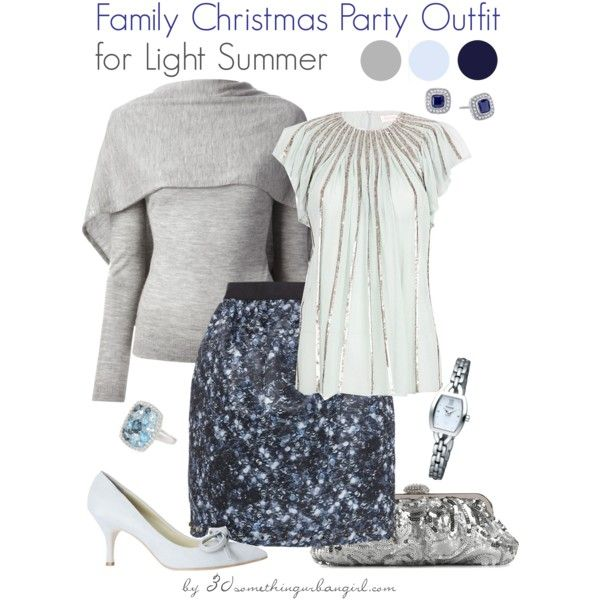 570e4dd61b5b Family Christmas Party Outfit Holiday look for Light Summer by  thirtysomethingurbangirl on Polyvore