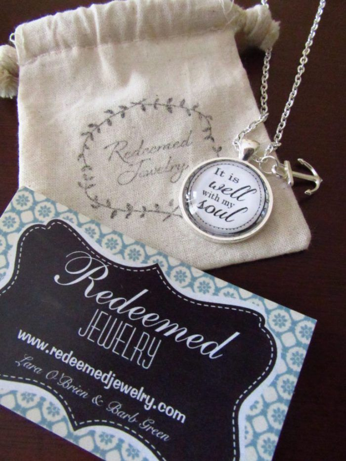 It Is Well With My Soul Necklace by Redeemed Jewelry