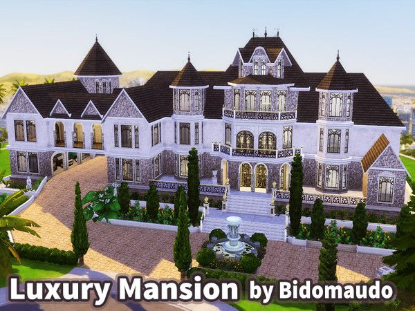 Luxury Mansion For Celebrity Mansions Luxury Sims 4 House Design Mansions