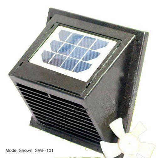 New Wall Solar VentFan for Bathroom Basement Greenhouse Shed