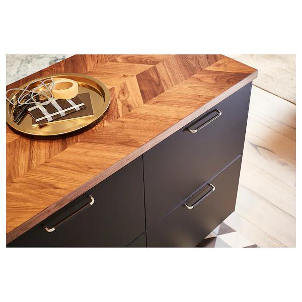 Barkaboda Worktop Walnut Veneer 186x3 8 Cm Ikea Walnut Veneer Countertops Karlby Countertop