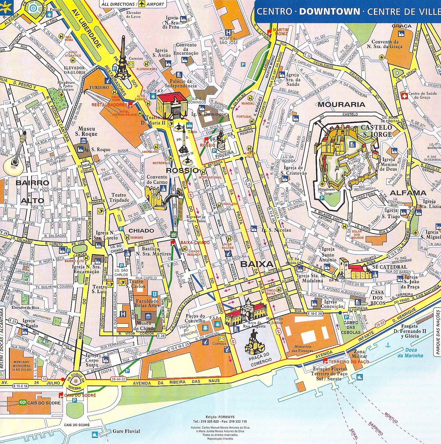 Lissabon Lissabon Lissabon Karte Portugal Lissabon