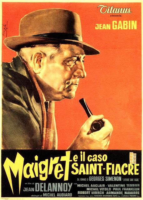 Maigret E Il Caso Saint Fiacre Cartel De Italia Arte Enzo Nistri Maigret En El Caso De La Condesa Maigret Et L Aff Jean Gabin Robert Hirsch Michel Auclair