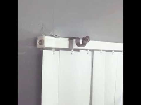 1 Hang Curtains Over Vertical Blinds With The Nono Bracket