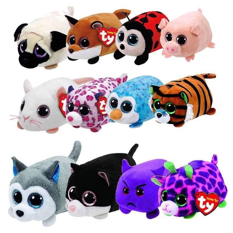 07ac15d21af TY Beanie Boo Teeny Tys Plush Blue Owl Seal Dog penguin 9cm Original Ty  Beanie Boos Big Eyes Dog Plush Toy Doll Baby Kids Gift