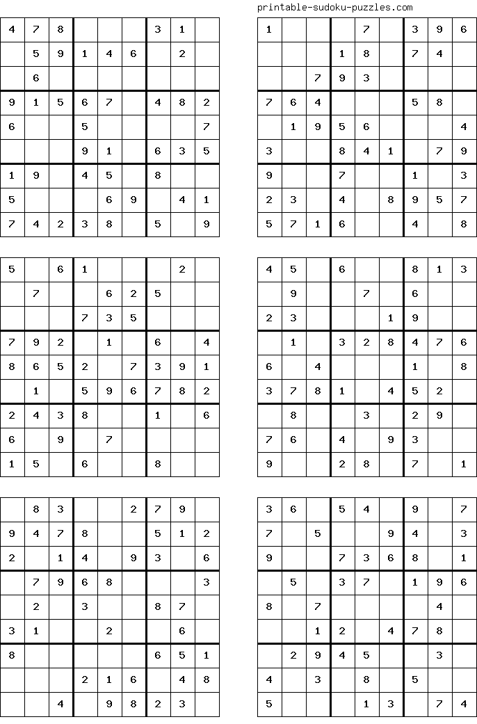 It's just a picture of Printable Sudoku 4 Per Page throughout 38 given number printable