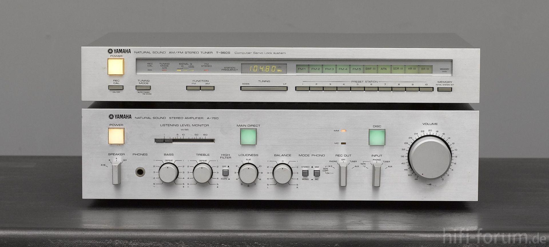Yamaha A760 und Yamaha T960II   hifiklassiker, stereo, yamaha   hifi