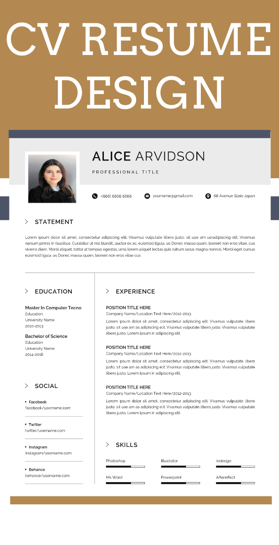 Resume Template Word,Resume Template Instant Download
