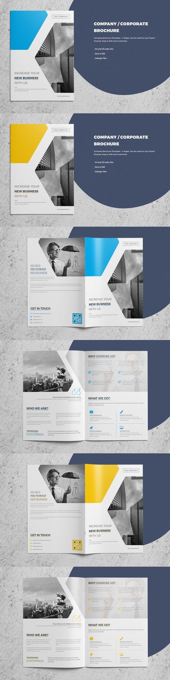 CorporateCompany Brochure Page Brochure Templates - 4 page brochure template