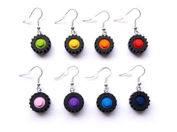 Lego Earrings DRIVE ME Choose your favorite color by ArohaJewelz, €6.00