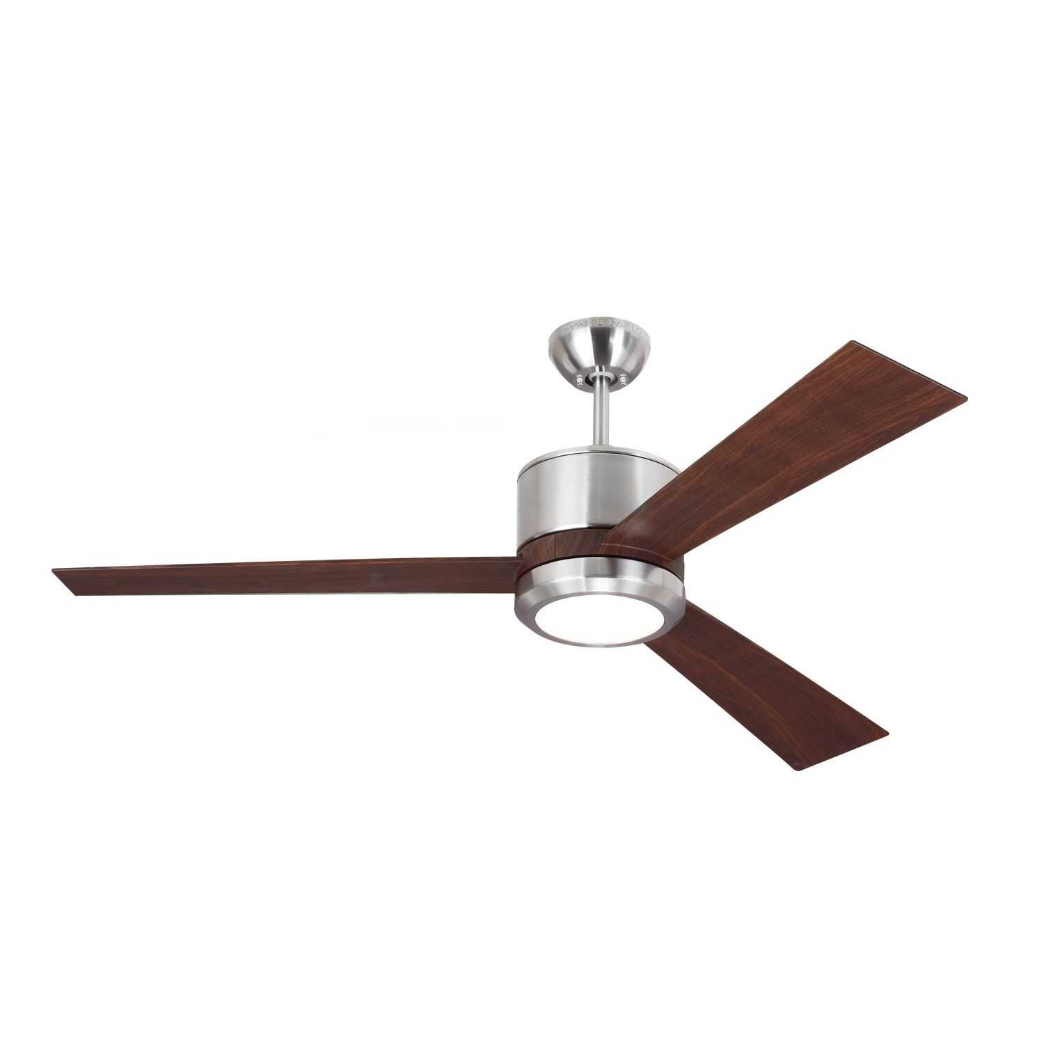 Vision 3 Blade Ceiling Fan With Light By Monte Carlo 3vnr52rzwd V1 Ceiling Fan With Light Ceiling Fan Fan Light