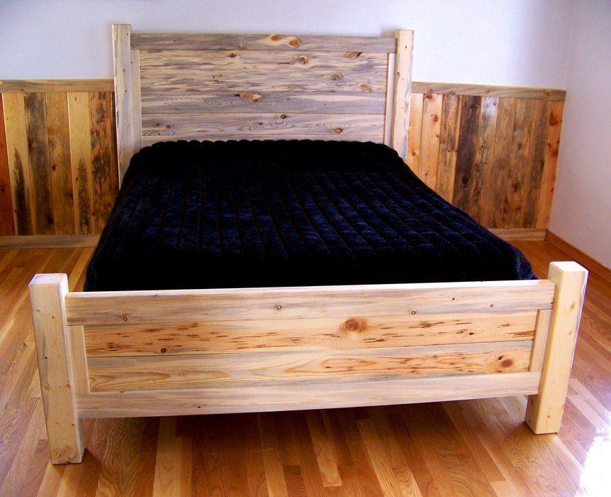 Beetle Kill Pine Queen Bed By Rockyblue Lumberjocks Com