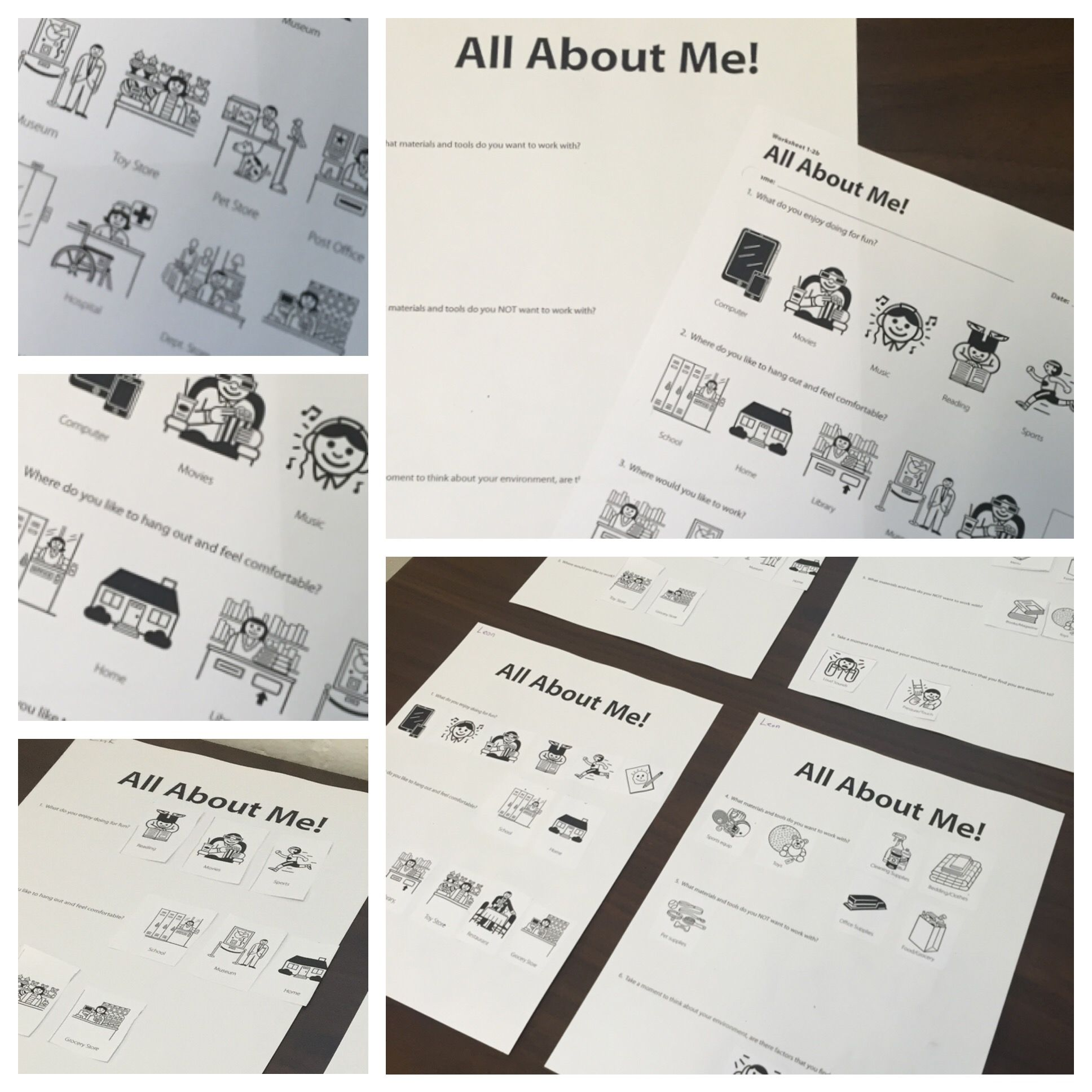 Utilizing The All About Me Worksheet From The I Can Work