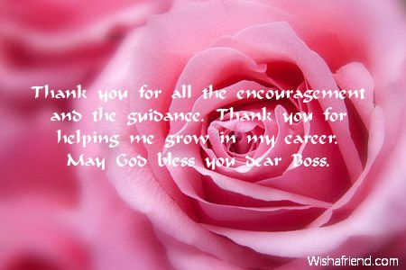 you for your support and encouragement quotes thank notes boss - thank you notes to boss