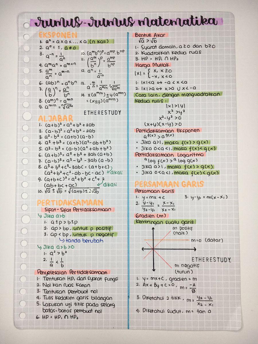 Pin Oleh Nazwa Sabila Di S T U D Y Di 2020 Matematika Kelas 8 Buku Pelajaran Buku Tulis
