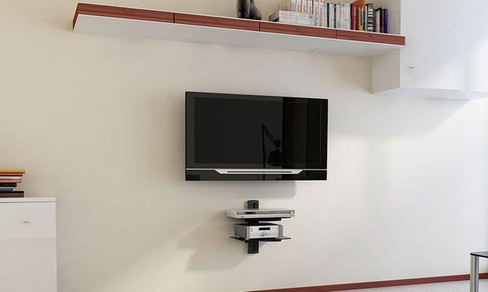 Argom Tv Wall Mount Component Shelves Wall Mounted Shelves Dvd