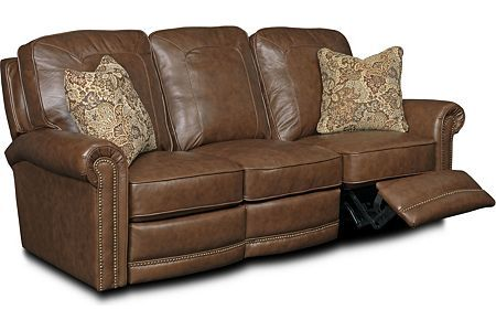 Superior Jasmine Leather Or Performance Leather™ Reclining Sofa   Power (Broyhill)