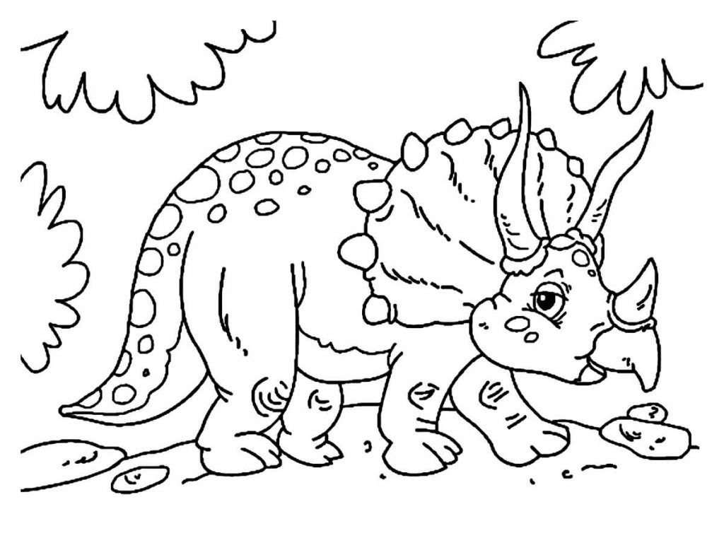 Dibujos de dinosaurios para colorear online   Dibujos gratis para ...
