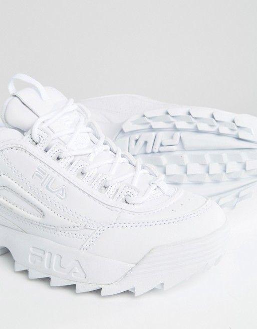basket blanche style fila