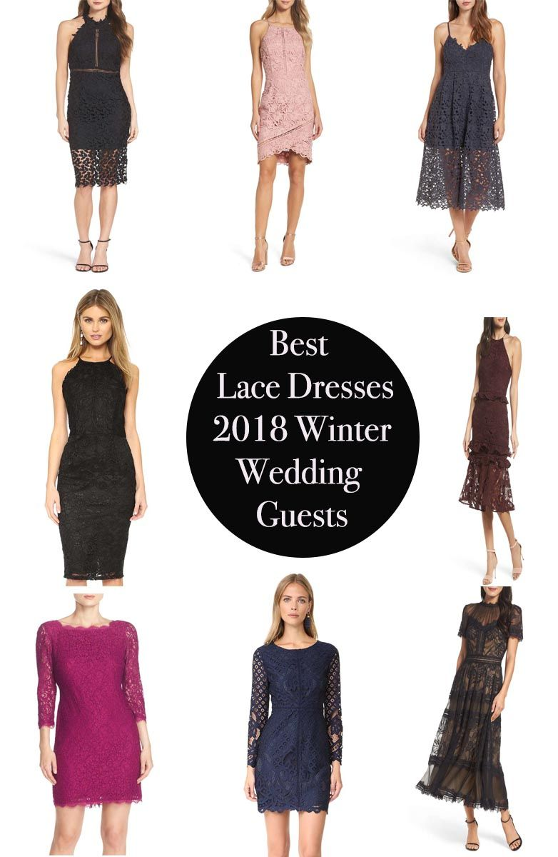 76a5924e37 The best lace dresses on trend for 2018 winter wedding guests    Candace  Rose Anderson